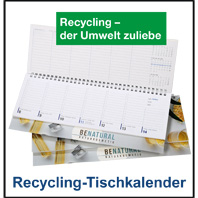Recycling-Schreibtischquerkalender 232R