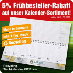 Recycling-Tischkalender 232R