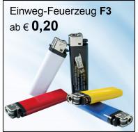 Feuerzeug F3 Bestseller