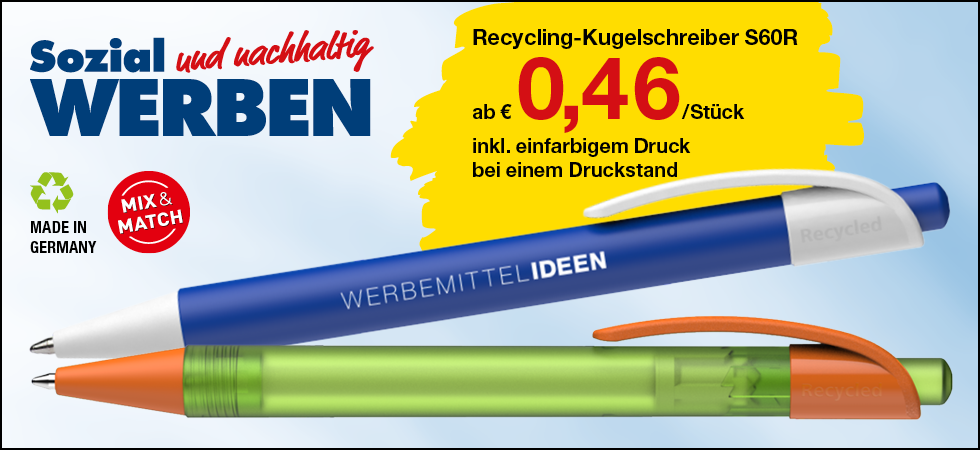 Recycling-Kugelschreiber S60R