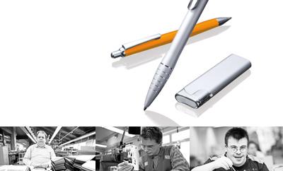 Kugelschreiber und Feuerzeuge